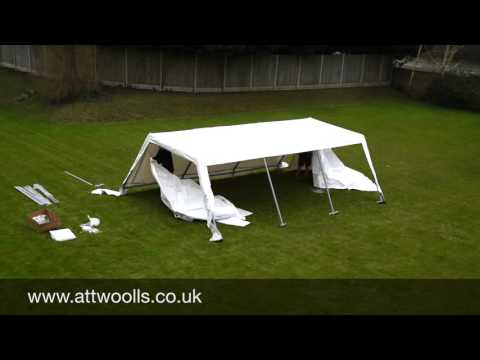 Party Tent (Industrial) Pitching & Packing Video (Real Time)