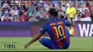 Ronaldinho Barcelona Vs Man United Legends  30/06/2017
