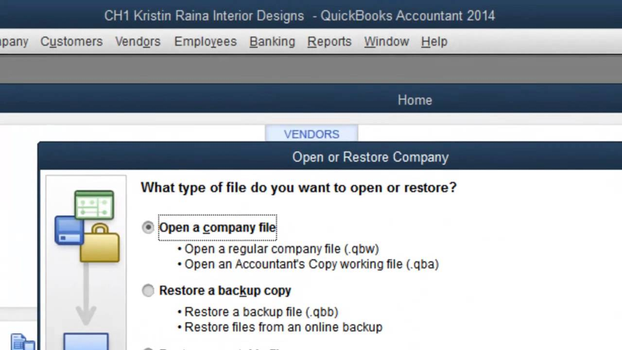 How to Open Another QuickBooks Company File