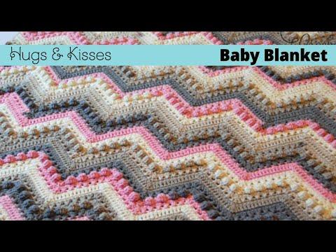 How To Crochet Hugs Kisses Baby Blanket