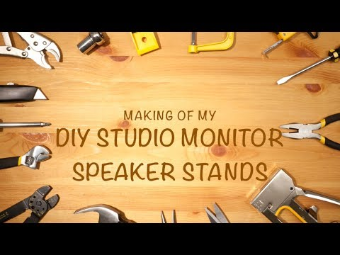 Making of Wooden Lamp Stands - [DIY Monitor Speaker Stands]