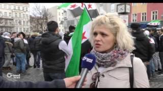 تجمع المئات في برلين لإحياء الذكرى السادسة للثورة الـسـوريـة