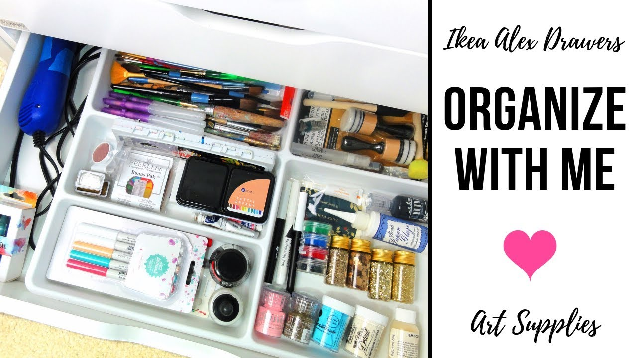 9a5a6a84d Organize With Me | Decluttering Ikea Alex Drawers for Art Supplies | Craft  Room Organization