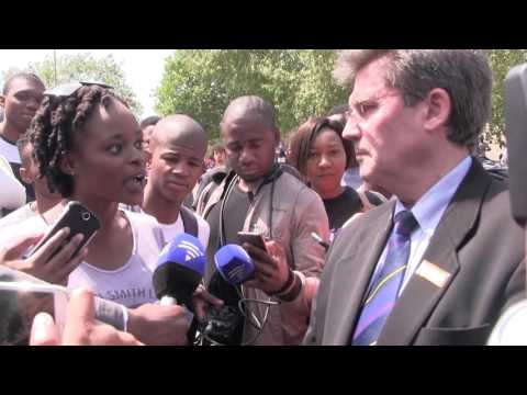 'What narrative are you spinning out here?' – Irate Wits student interrupts interview