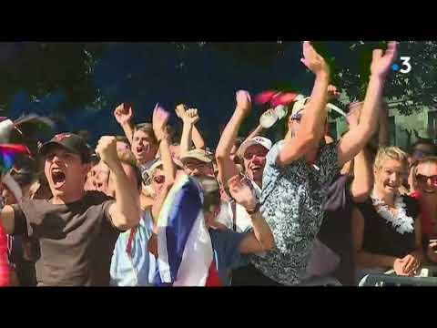 Coupe du Monde 2018 : les réactions Cours Saint Pierre à Nantes sur le 1er but français