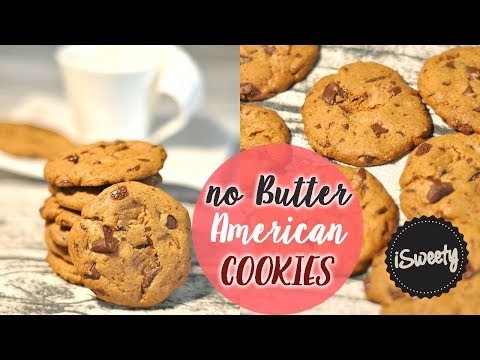 [Without BUTTER AND MILK] American Chocolate Chip COOKIES - Perfect And Crisp