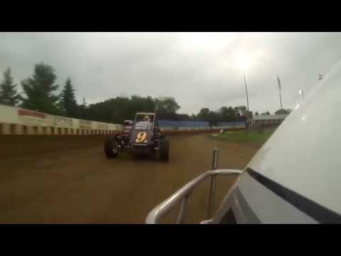 Ken Hanson flip Angell Park Speedway 8/11/19