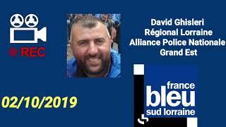 Médias marche de la colère Alliance Police Nationale Grand Est