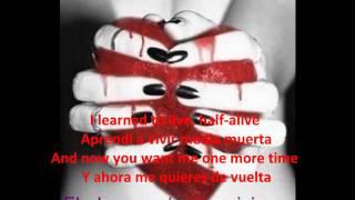 Christina Perri - Jar of Hearts - (English-Spanish-Lyrics)