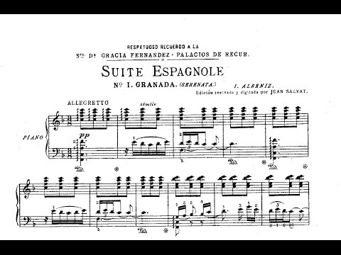 Granada Suite española, I  Albéniz