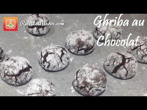 recette-biscuit-ghriba-au-chocolat---trÈs-moelleux
