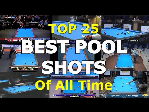 Top 25 BEST POOL SHOTS of All Time
