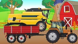 Harvest - Farm work | tractor, combine-harvester, seeder | Video for kids and Bayby | Traktor Żniwa