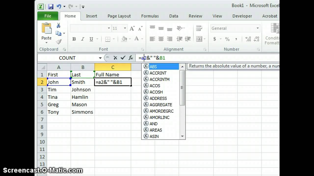 How To CONCATENATE a Range of Cells + VBA Macro