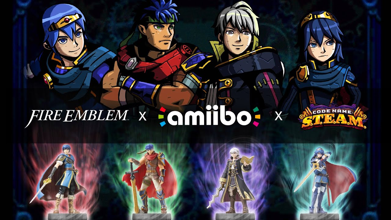 Code Name S.T.E.A.M. Marth, Ike, Robin and Lucina Amiibo ...