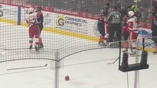 Flint Firebirds vs SOO Greyhounds fight