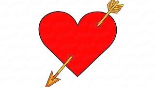 Как нарисовать сердце со стрелой: инструкция от EvriKak(Предлагаем пошаговую инструкцию как нарисовать сердечко со стрелой. Фото и текстовая инструкция у нас..., 2016-02-23T08:29:19.000Z)