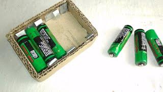 Machen 'AA' Batterie  Halterung aus Pappe // einfach zu machen ein einfaches arbeiten Akku-Halter....