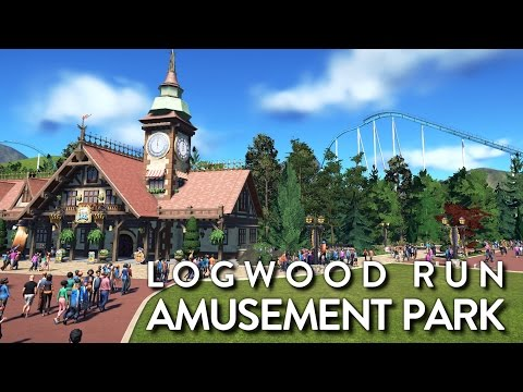 Planet Coaster - Logwood Run Amusement Park (Timelapse)
