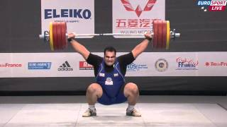 New World Record in +105Kg Men World Weightlifting Paris 2011 - Behdad Salimi