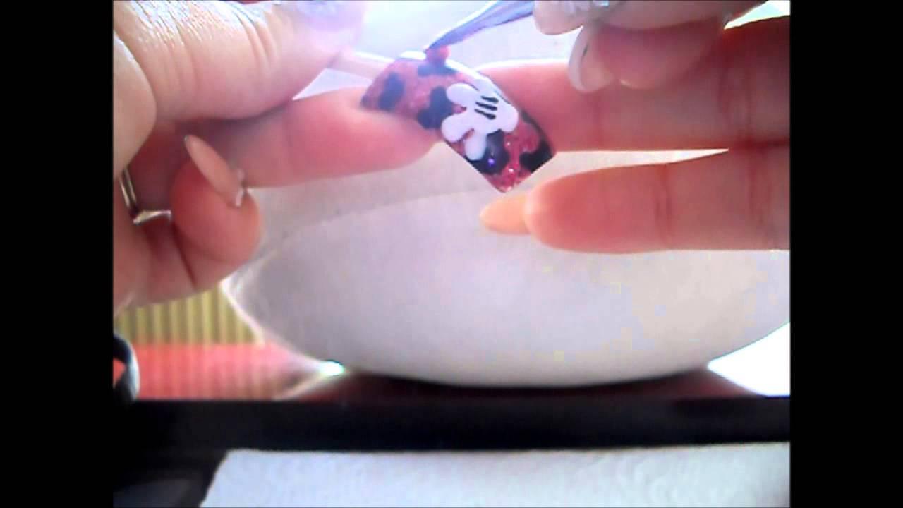 How to Acrylic Nail *MICKEY MOUSE* UÑAS ACRILICAS TUTORIAL - YouTube