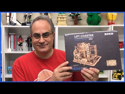 ROKR Perpetual Marble Run 3D Wood Puzzle Set Unboxing