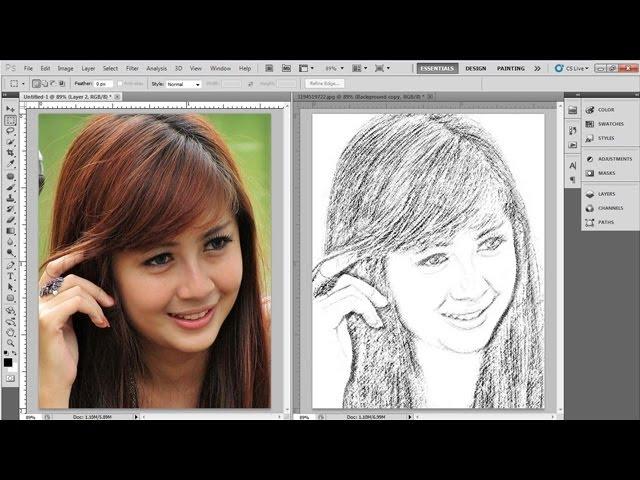 Tutorial Photoshop Cara Merubah Foto Jadi Lukisan Pensil Youtube