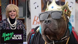 Katie Nolan channels Joan Rivers to review dogs' Halloween costumes | Always Late with Katie Nolan