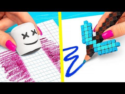 10 DIY Fortnite School Supplies vs Minecraft School Supplies