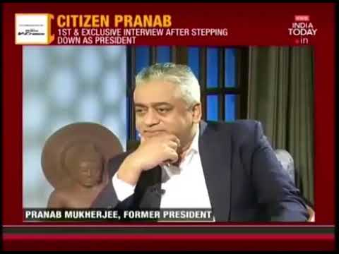 Pranab Mukherjee slams Rajdeep Sardesai during a live interview || Fmr President of India ||