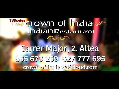 Crown of India Indian Restaurant Altea Old Town nr Benidorm Costa Blanca Spain