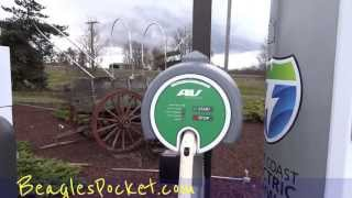 Free Electric Car Charging Station West Coast Electric Green Highway Find See Video Oregon