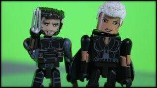 WOLVERINE VS. STORM - MINIMATES SET REVIEW!!!