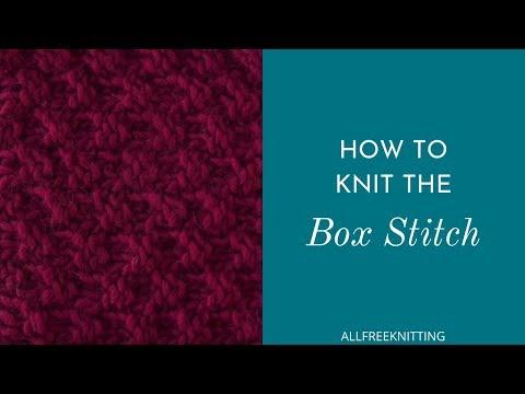 How To Box Stitch