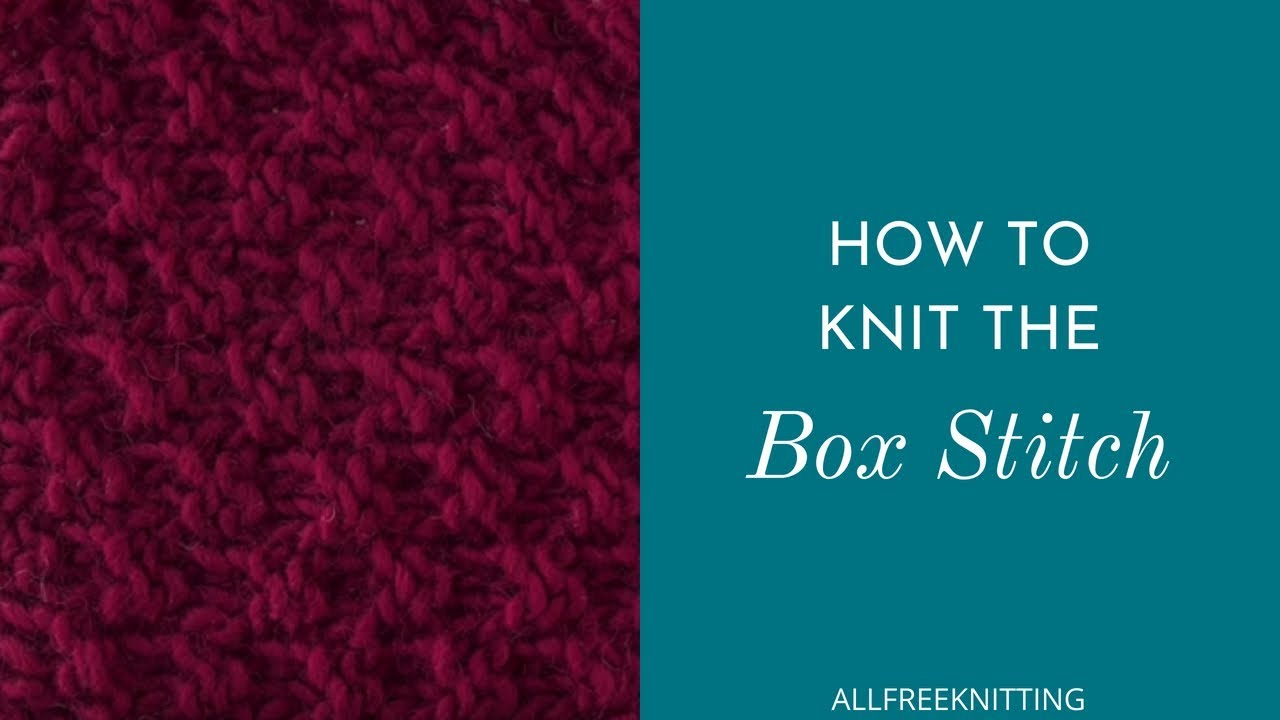 Attractive Box Stitch Knitting Pattern Collection - Sewing Pattern ...