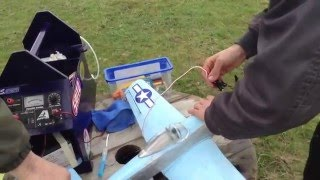 rc plane Mustang p-51 guillow´s avec moteur cox 0,8