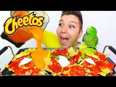 CHEESY CHEETOS FULLY LOADED NACHO FEAST  • Mukbang & Recipe