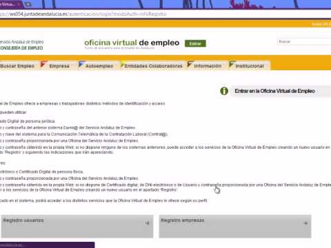 C mo darse de alta en la oficina virtual de empleo youtube for Oficina virtual trabajo
