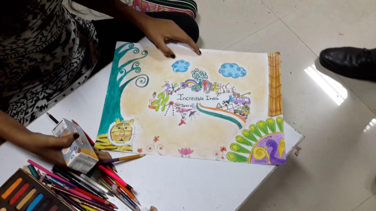 Drawing On Incredible India Youtube
