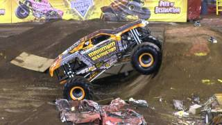06/16/2012 NJ Monster Jam Double Max D Double Backflip Attempt & Fail