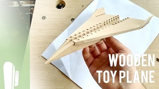 Wooden toy plane - Makers Care