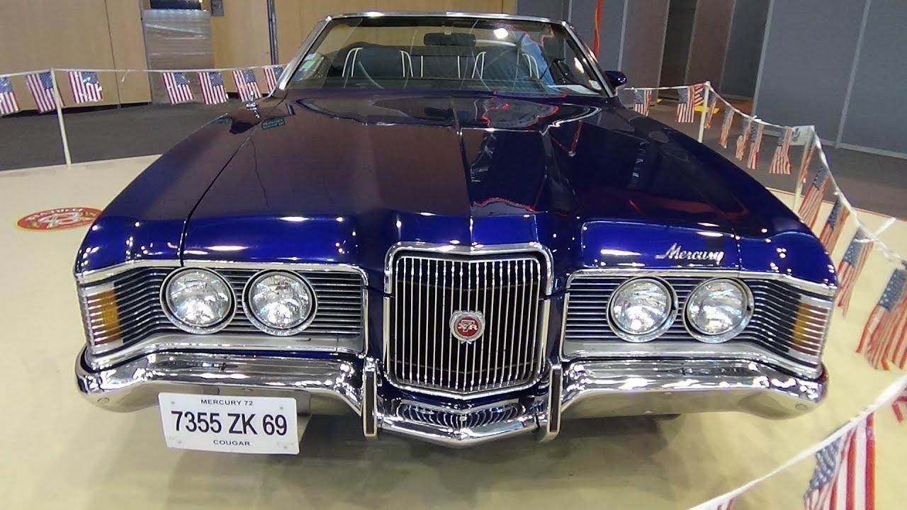 1972 Mercury Cougar Xr7 V8 Exterior And Interior Salon Automobile Lyon 2017
