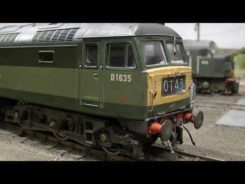 British Model Railway Layout Ladeside Diesel Depot in O Gauge