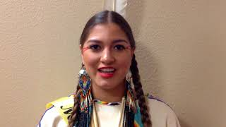 2018 Miss Indian World Contestant #17 Cora Williams WhiteCloud