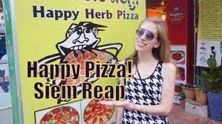 Happy Pizza in Siem Reap, Cambodia | Khmer Pizza - Cambodian Pizza - Ecstatic Pizza