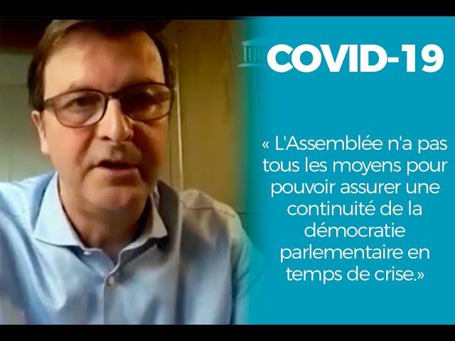 Covid19: l'Assemblée n'a pas tous les moyens pour assurer une continuité de démocratie parlementaire