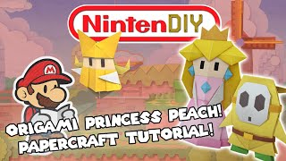 NintenDIY - Paper Mario & The Origami King Princess Peach Papercraft Tutorial!