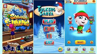 Talking Tom Gold Run ELF ANGELA VS TALKING SANTA VS SUBWAY SURFERS Saint Petersburg Christmas