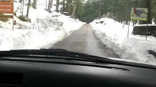 Drive to Khajjiar in Snow