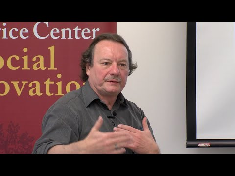 """Helmut Anheier, dean of the Hertie School of Governance in Berlin, gave a talk on """"Social Innovation: What Are the Issues for Research and Policy?"""" hosted by the Sol Price Center for Social Innovation."""